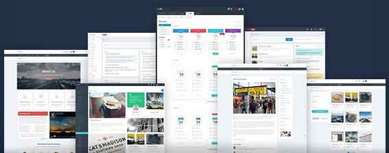 تنوع در نمایش قالب مدیریت Metronic