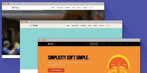 تنوع رنگ در قالب ja onepage برای جوملا