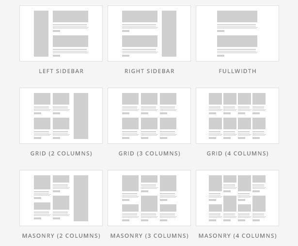 صفحات بلاگ در قالب اچ تی ام ال Rhythm