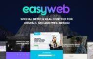 دانلود قالب هاستینگ و سئو EasyWeb برای وردپرس