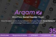 دانلود افزونه Arqam برای وردپرس - شمارنده شبکه های اجتماعی