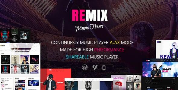 دانلود قالب موزیک Remix برای وردپرس