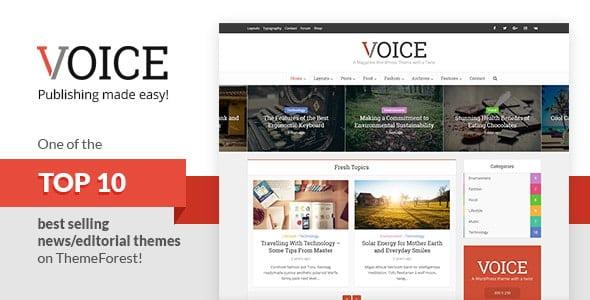 دانلود قالب Voice برای وردپرس – قالب مجله ای و خبری