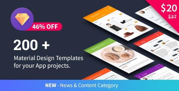 دانلود Material Design Templates برای آندروید
