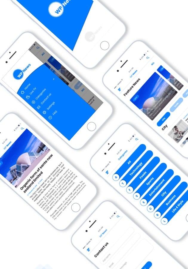 دانلود اپلیکیشن WP News ساختن اپلیکیشن برای سایت وردپرسی