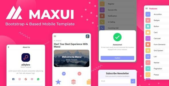 دانلود قالب بوت استرپ 4 موبایلی Maxui