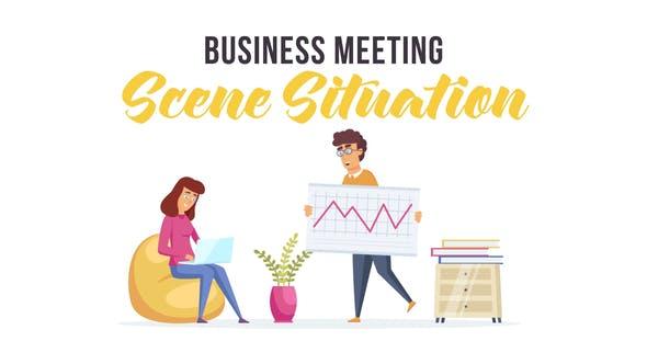 دانلود انیمیشن جلسه شرکتی Business meeting
