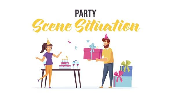 دانلود انیمیشن آماده جشن تولد برای افترافکت